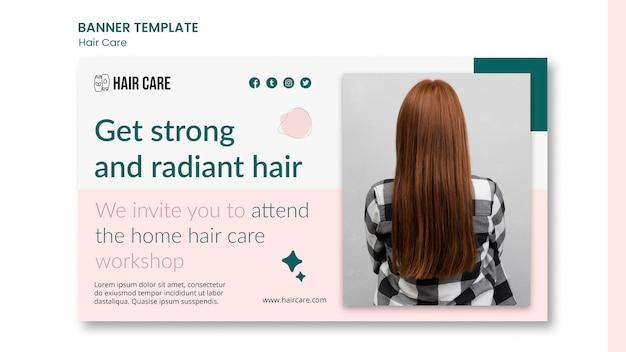 Совет по уходу за волосами горизонтальный баннер шаблон Бесплатные Psd
