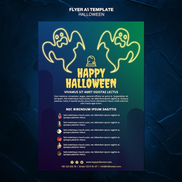 Halloween event template flyer Free Psd