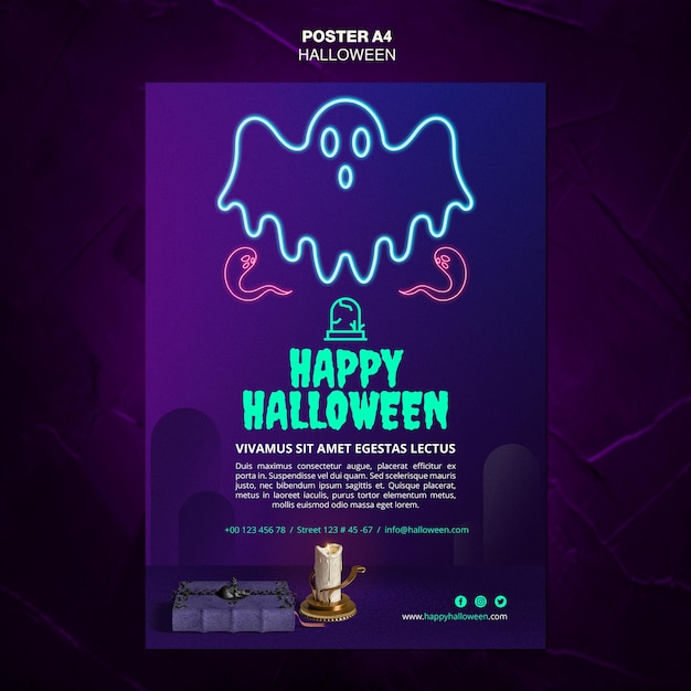 Halloween event template poster Free Psd