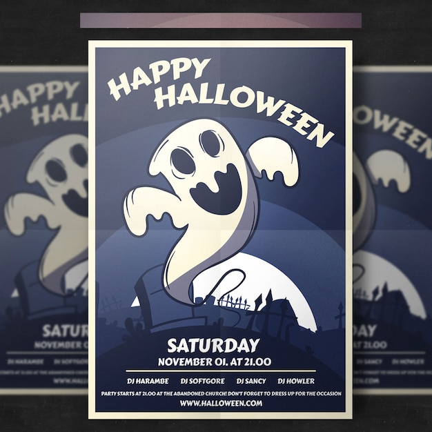 Halloween flyer template Premium Psd