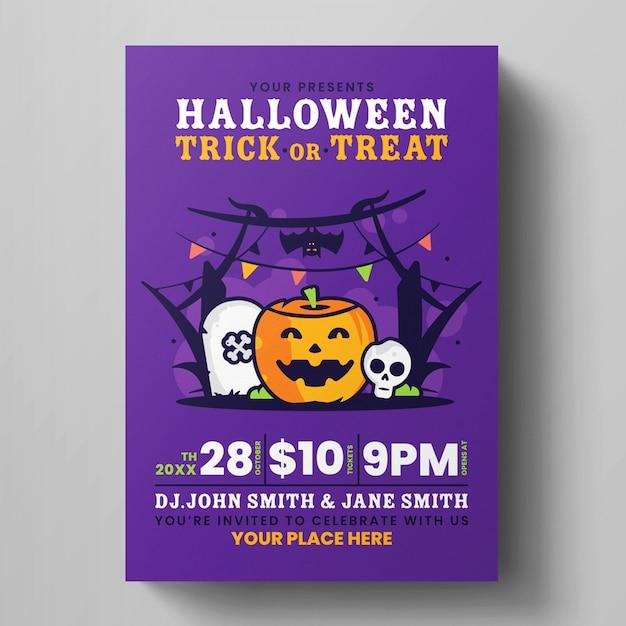 Halloween flyer template Premium Psd