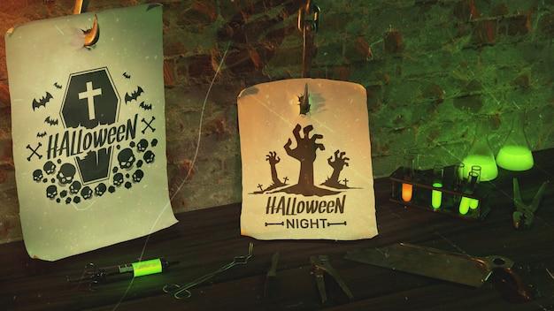 Halloween night arrangement event Free Psd