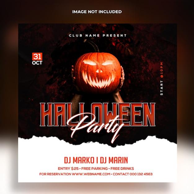 Halloween party banner template premium template Premium Psd