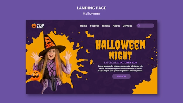 Шаблон баннера для вечеринки на хэллоуин Бесплатные Psd