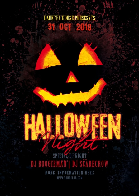 Halloween party poster Premium Psd