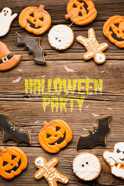 Halloween party trick or treat sweets Free Psd