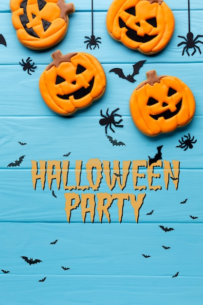 Halloween party with sweet treats Free Psd