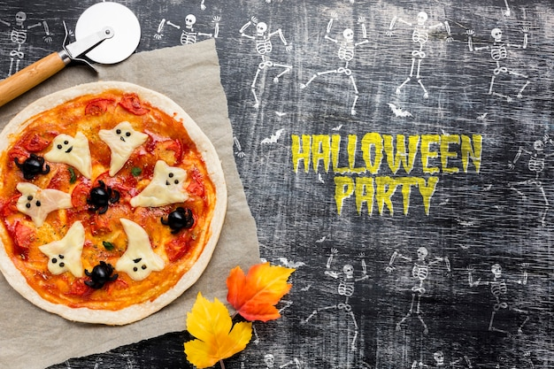 Halloween pizza treat specific day Free Psd
