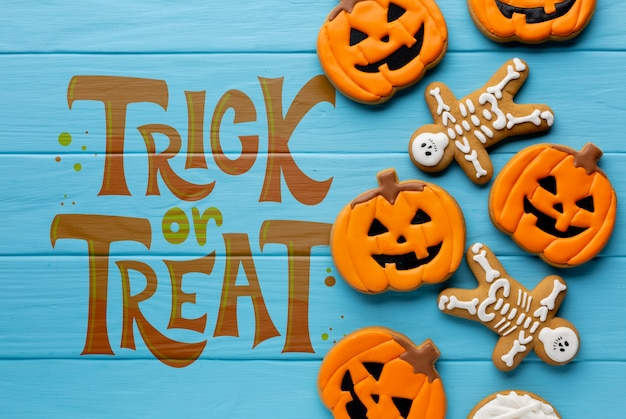 Halloween trick or treat sweets Free Psd