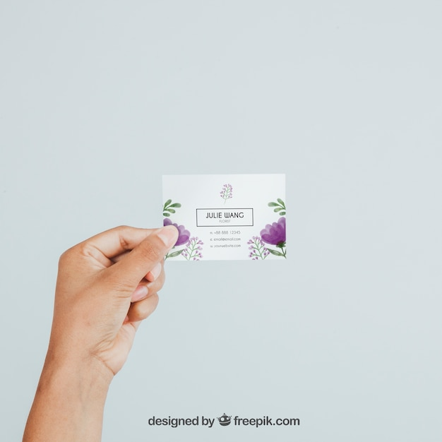 Hand Holding Business Card S Mock Up Free Psd