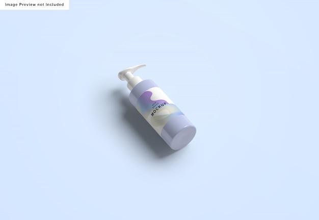 Мокап бутылки дезинфицирующего средства для рук Бесплатные Psd