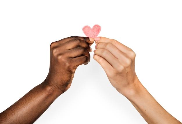 Hands holding heart Premium Psd