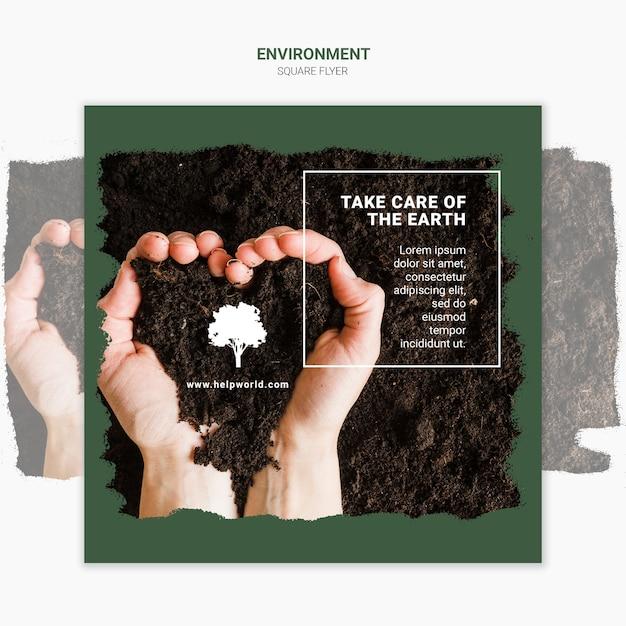 Руки, делающие сердце с шаблоном квадрата грязи Бесплатные Psd