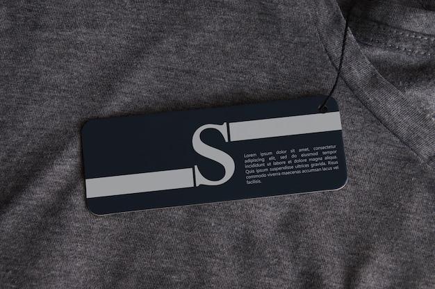 Tshirt 용 태그 로고 모형 프리미엄 PSD 파일