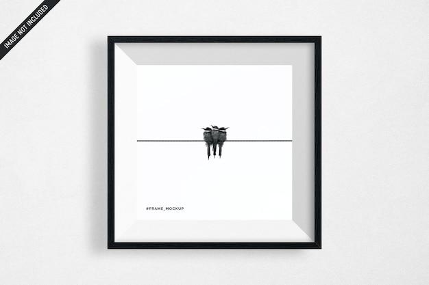 검은 사각형 프레임 모형 절연 매달려 프리미엄 PSD 파일