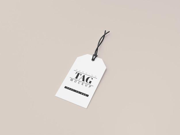 Hanging label price tag mockup Premium Psd