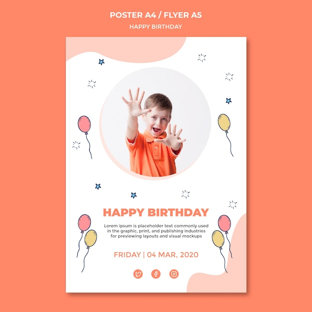 Birthday Poster Template from image.freepik.com