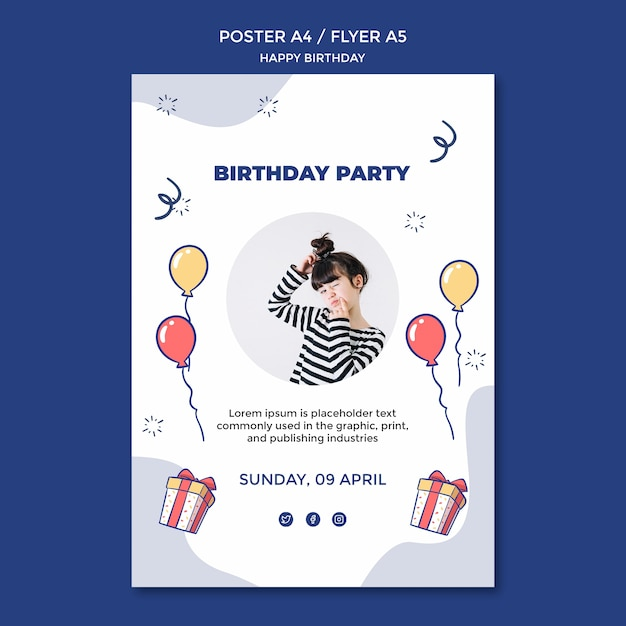 Free Psd Happy Birthday Poster Template