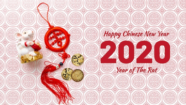 Happy chinese new year mock-up Free Psd