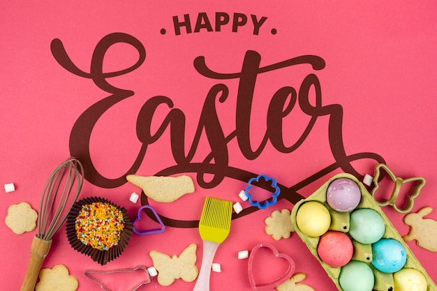 Happy easter day Free Psd