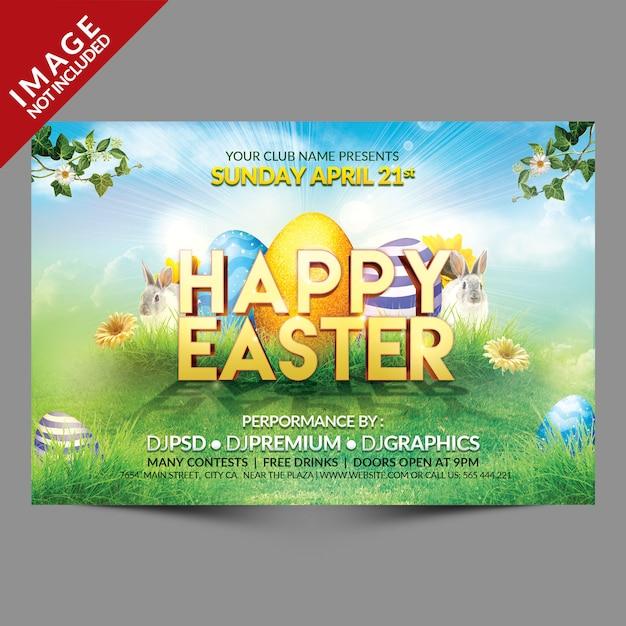 Happy easter flyer landscape orientation Premium Psd