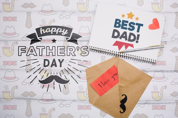 Happy father's day concept mock-up Free Psd