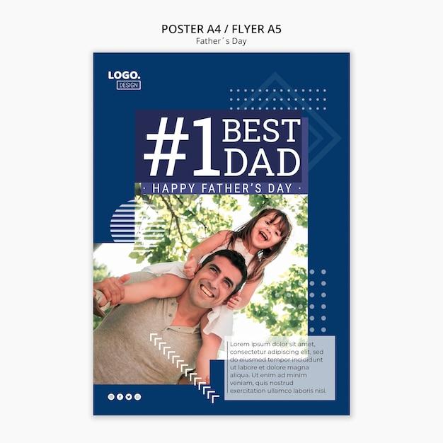 Счастливый день отца плакат концепция Бесплатные Psd