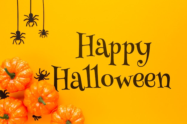 Happy halloween day and autumn view Free Psd