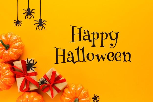 Happy halloween mock-up message Free Psd