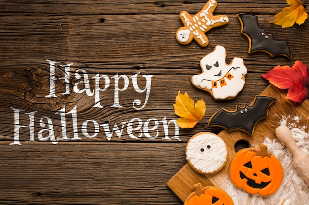 Happy halloween trick or treat sweets Free Psd