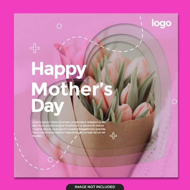 해피 어머니의 날 소셜 미디어 템플릿 프리미엄 PSD 파일
