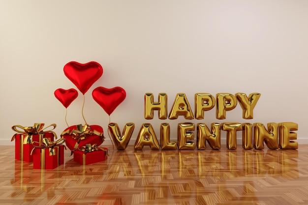 С днем святого валентина сцена с рамкой Бесплатные Psd