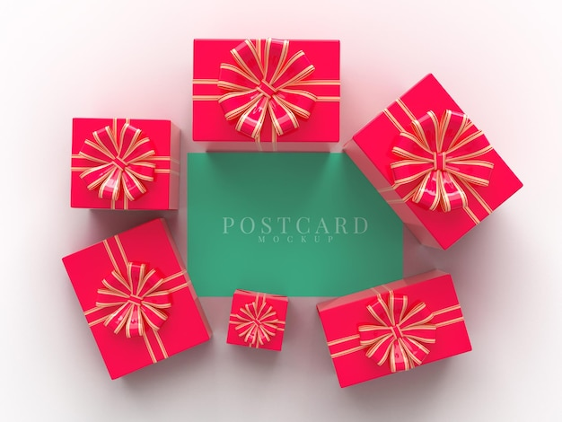 선물 상자 장식 해피 발렌타인 데이 축하 파티 프리미엄 PSD 파일