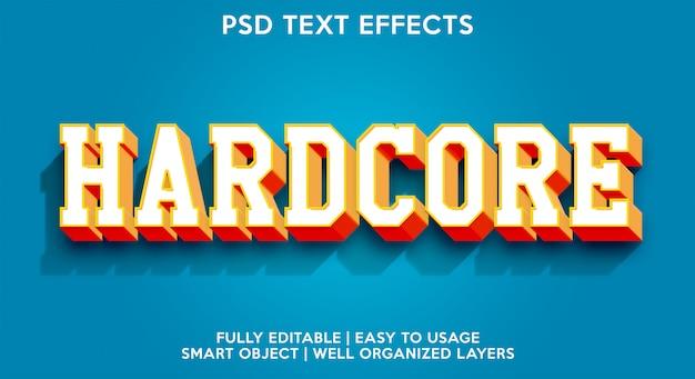 Хардкорный текстовый эффект Premium Psd