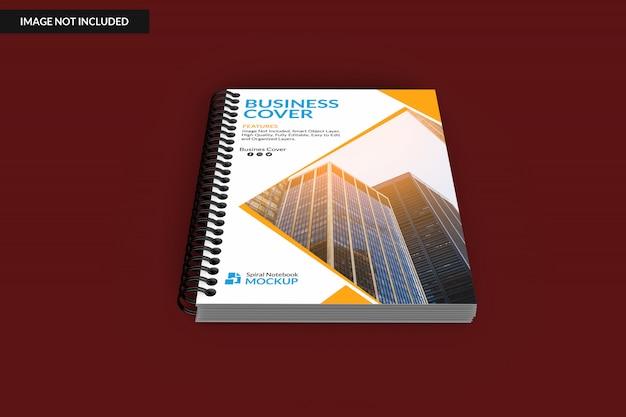 Hardcover spiral binder notebook mock up Premium Psd