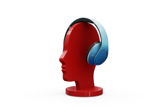 Headphones mock-up isolated Free Psd