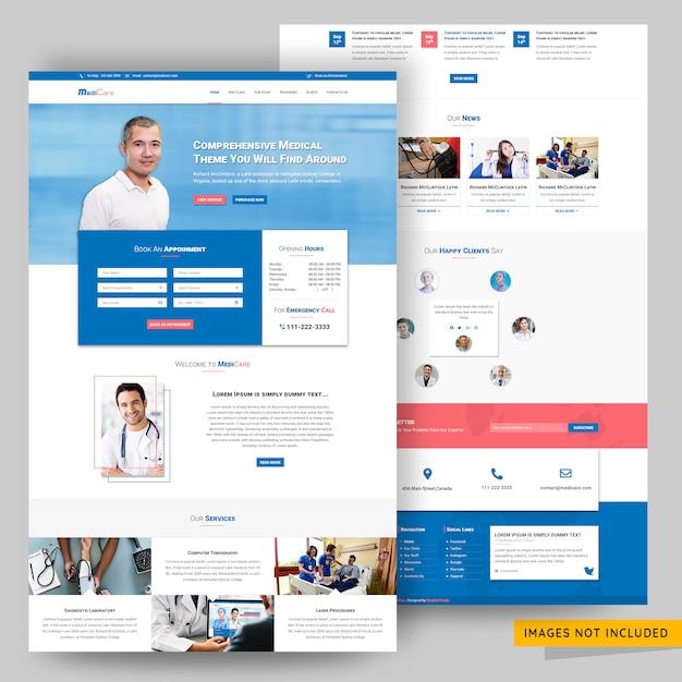 ヘルスケアおよびコンサルティングwebサイトのpsdテンプレート Premium Psd