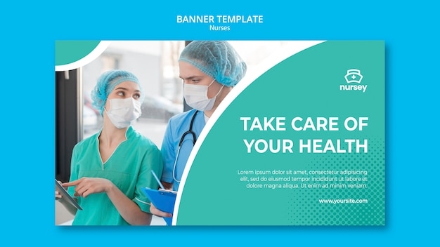 Healthcare concept with nurses Free Psd