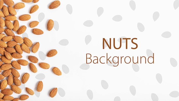 Healthy almonds mock-up background Free Psd