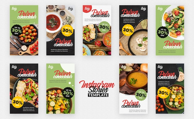 Healthy and bio food instagram stories Free Psd