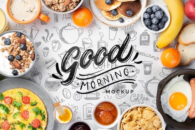 Макет концепции здорового завтрака Бесплатные Psd