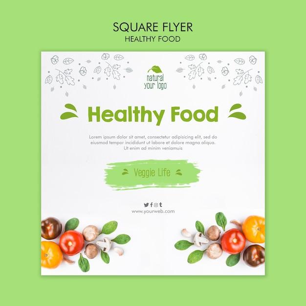 健康食品チラシテンプレートコンセプト 無料 Psd
