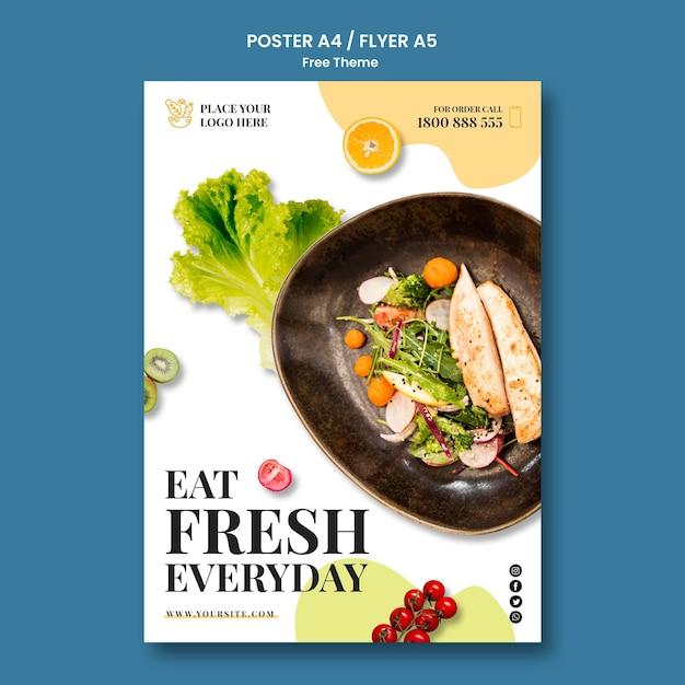 健康食品ポスタースタイル 無料 Psd