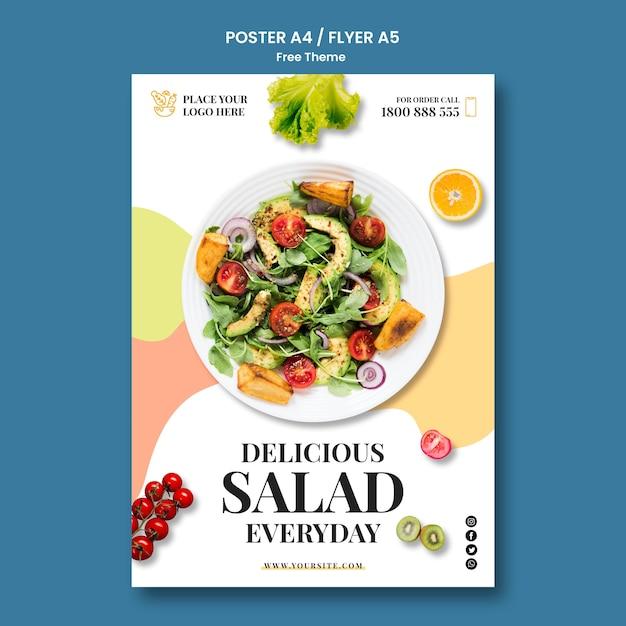 Дизайн шаблона плаката здоровой пищи Бесплатные Psd