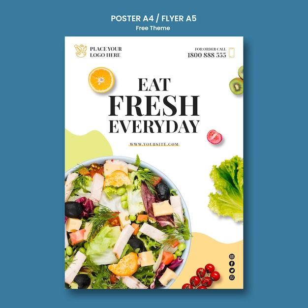 健康食品ポスターテンプレートテーマ 無料 Psd