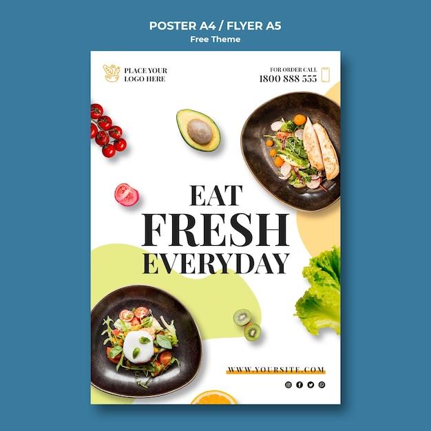 Тема плаката о здоровом питании Бесплатные Psd