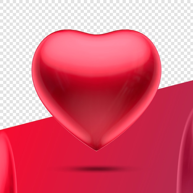 Heart 3d icon red Premium Psd