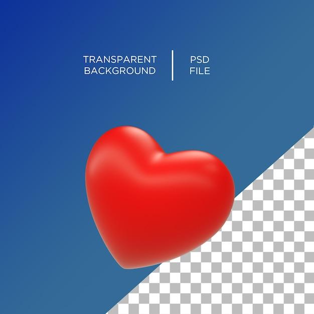 Сердце любовь смайлики 3d Premium Psd