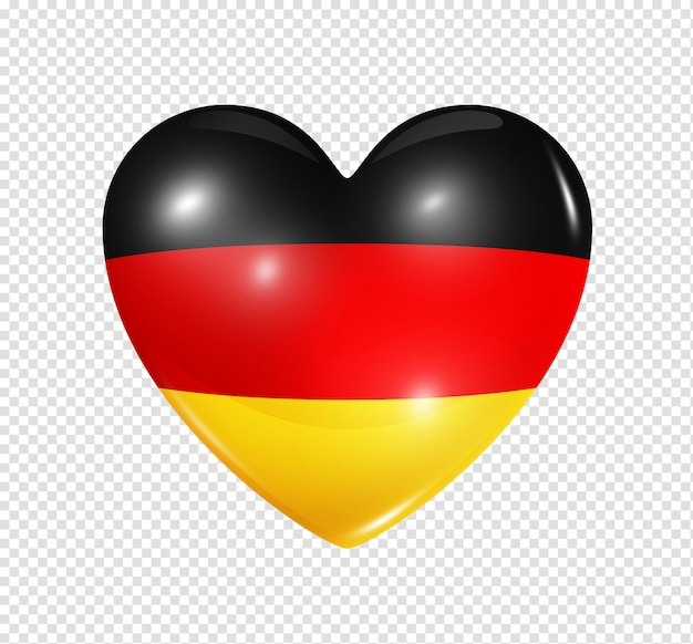Heart with germany flag Premium Psd