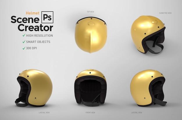 Helmet. scene creator. 3d Premium Psd